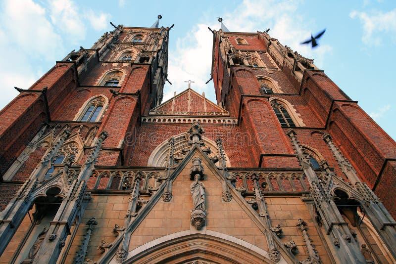 wroclaw собора старый стоковое изображение