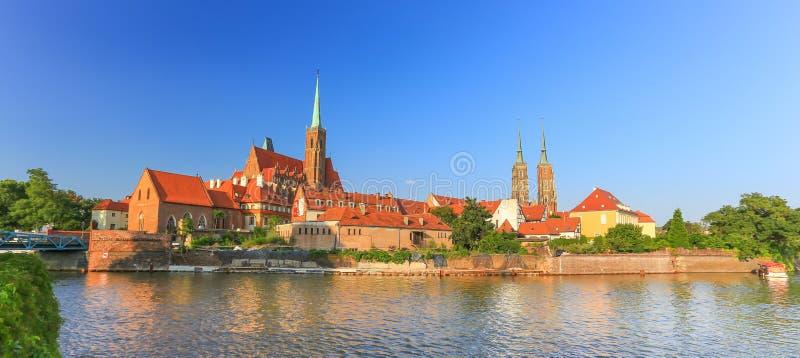Wroclaw - старый вид на город, Польша стоковая фотография