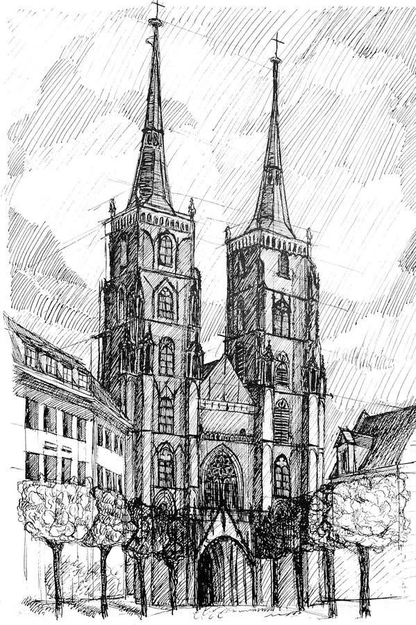 Wroclaw ilustración del vector