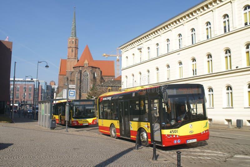 Wroclaw bas di una città del quadrato di Dominikanski fotografia stock