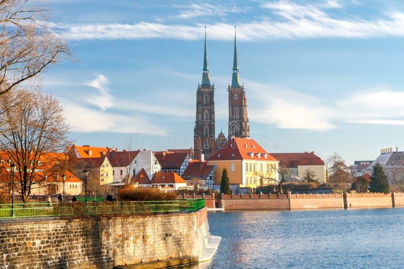 wroclaw Cattedrale di St John immagine stock