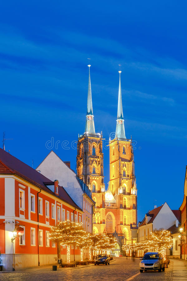 wroclaw Cattedrale di St John fotografie stock libere da diritti