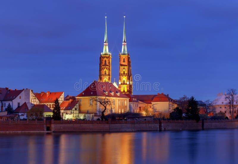 wroclaw Cattedrale di St John immagini stock libere da diritti