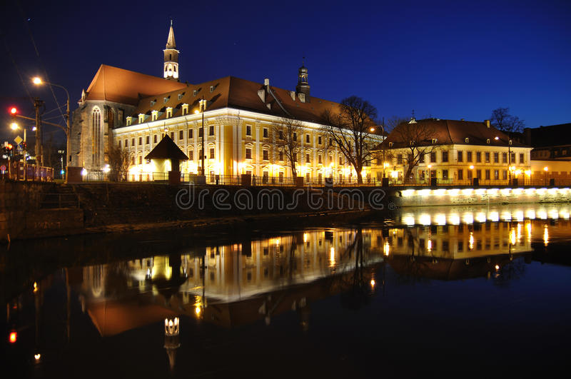 Wroclaw cityscape. Wroclaw (Poland) cityscape by night. Photo taken on 3rd of April 2010 royalty free stock photo