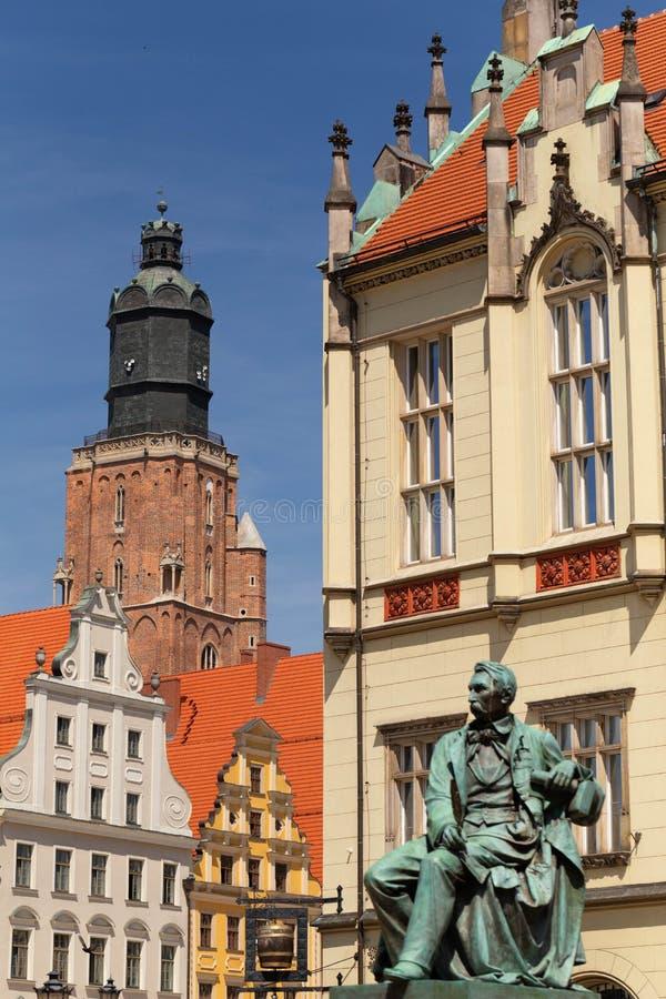 Wroclaw en Pologne Architecture dans la vieille ville photo stock