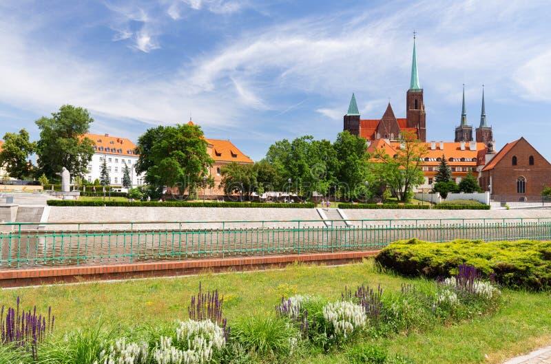 Wroclaw en Pologne Vieux quart avec l'architecture gothique photos libres de droits