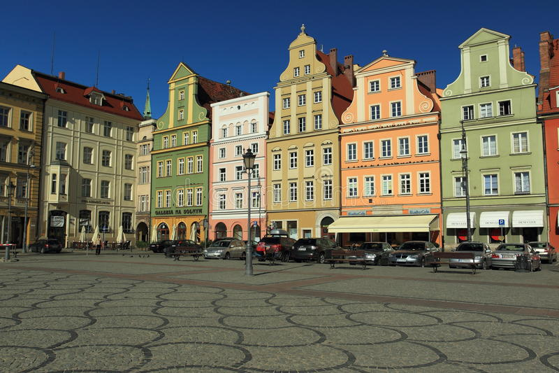 Download Wroclaw historic center editorial photo. Image of building - 25734336
