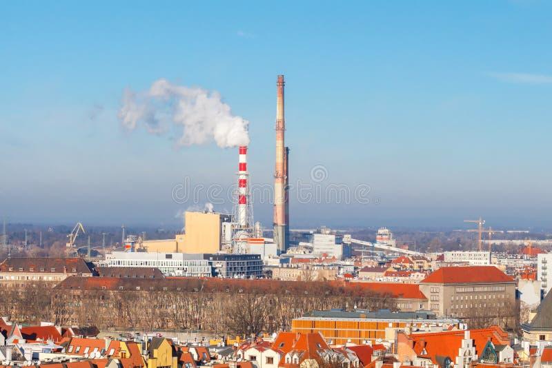 wroclaw Impianto termoelettrico immagine stock libera da diritti