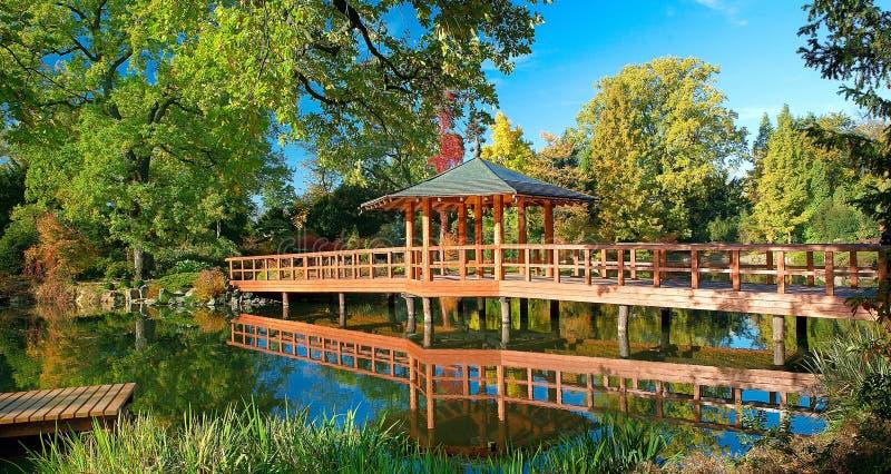 Wroclaw japonês do jardim imagens de stock royalty free