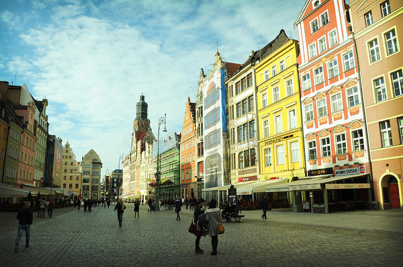 Wroclaw magique images stock