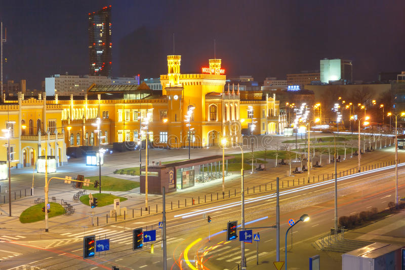Wroclaw Main Railway Station, Poland royalty free stock images