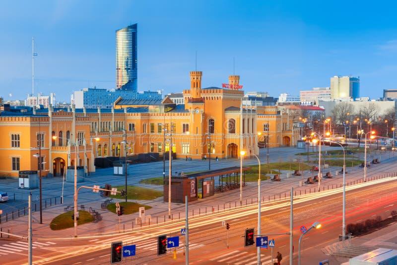 Wroclaw Main Railway Stationin the morning, Poland royalty free stock photo