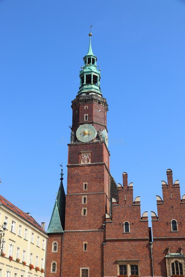 Wroclaw-mijlpaal royalty-vrije stock foto