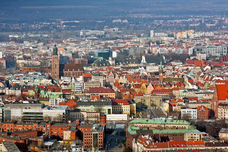 Wroclaw oude stad royalty-vrije stock afbeelding