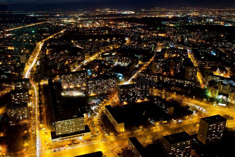 Wroclaw par nuit images stock