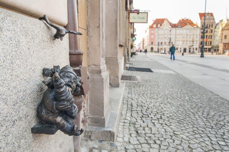 Wroclaw, Polônia, anão, gnomo imagens de stock