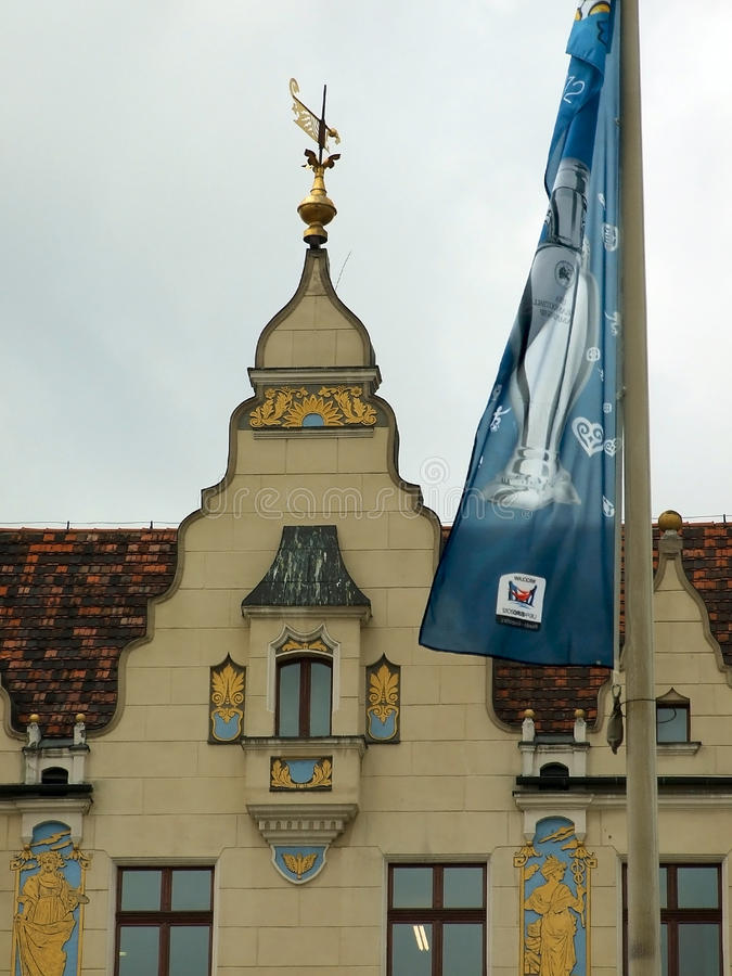 Download Wroclaw, POL:EURO 2012 Follow The Trophy Tour Flag Editorial Stock Image - Image: 25179689