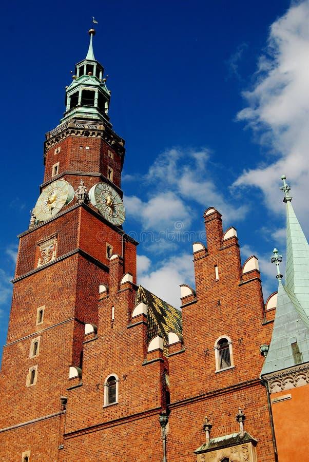 Wroclaw, Polônia: Câmara municipal imagens de stock