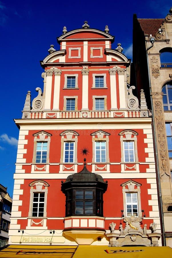 Wroclaw, Polônia: A casa barroco do Burgher fotos de stock royalty free