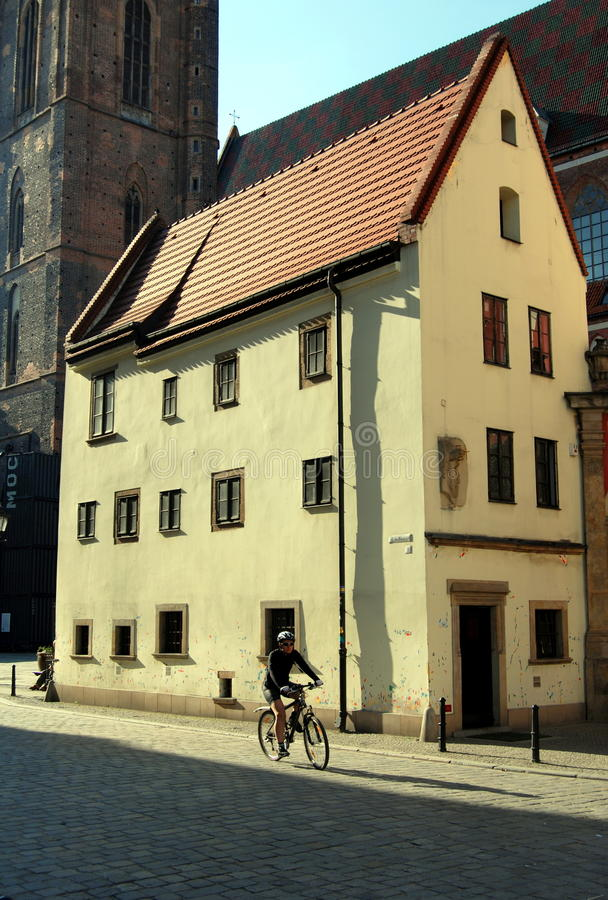 Wroclaw, Poland: Casa de Hansel & de Gretel fotos de stock royalty free