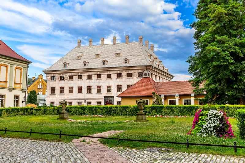 Wroclaw, Poland Ostrow Tumski houses. Wroclaw, Poland houses view of Ostrow Tumski island royalty free stock photos