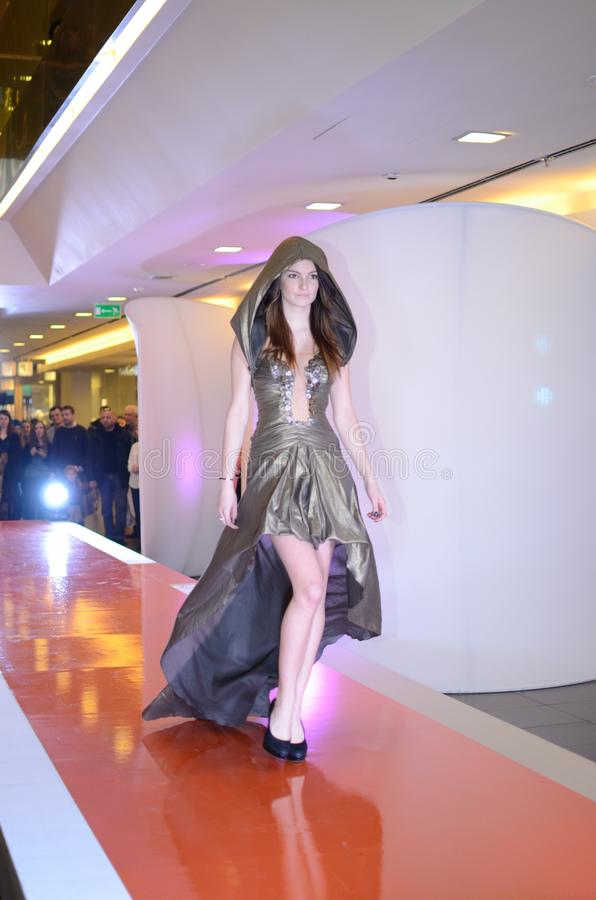 Fashion show - Wroclaw, Poland royalty free stock images