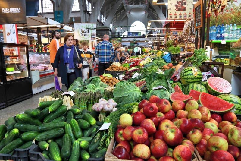 Wroclaw food market stock photo