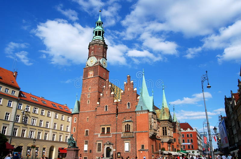 Download Wroclaw, Poland: Ratusz Town Hall In Rynek Square Editorial Image - Image: 15624490