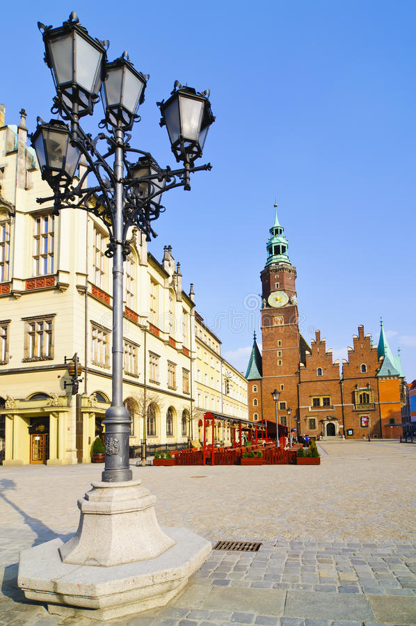Wroclaw, Polen stock foto's