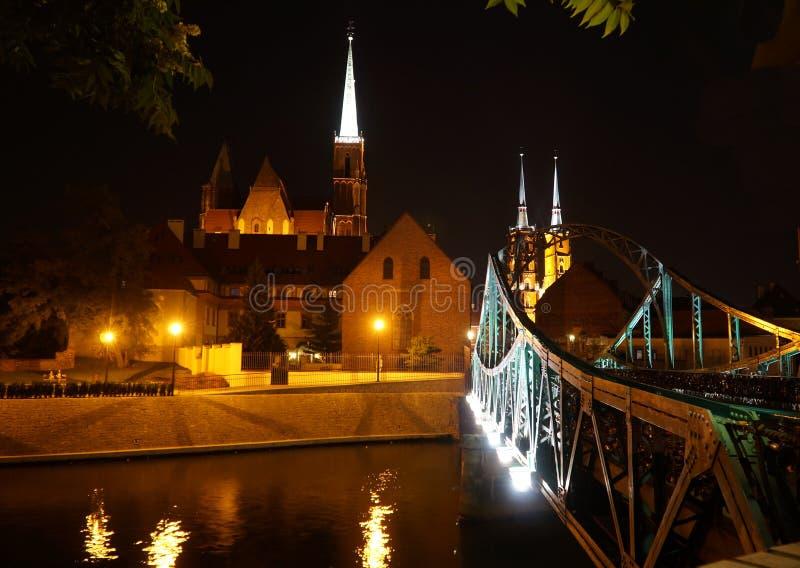 Wroclaw Polen - europeisk huvudstad av kultur 2016 fotografering för bildbyråer