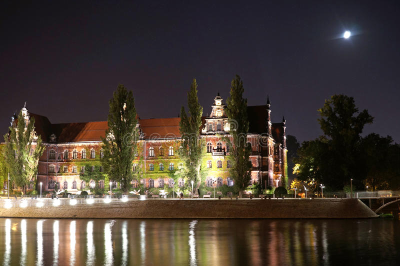 Wroclaw Polen - europeisk huvudstad av kultur 2016 royaltyfri foto