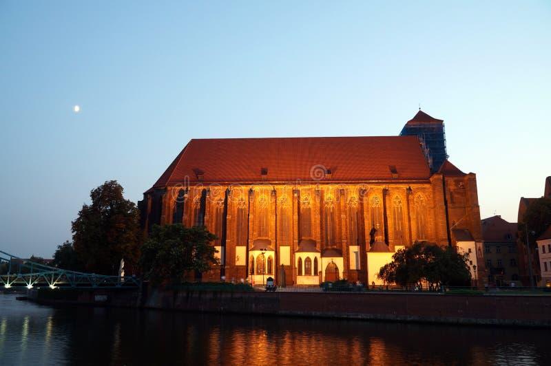 Wroclaw Polen - europeisk huvudstad av kultur 2016 arkivbild