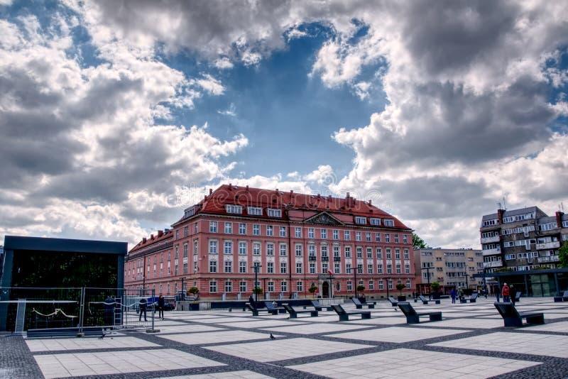 Wroclaw, Polen, stadsvierkant royalty-vrije stock fotografie