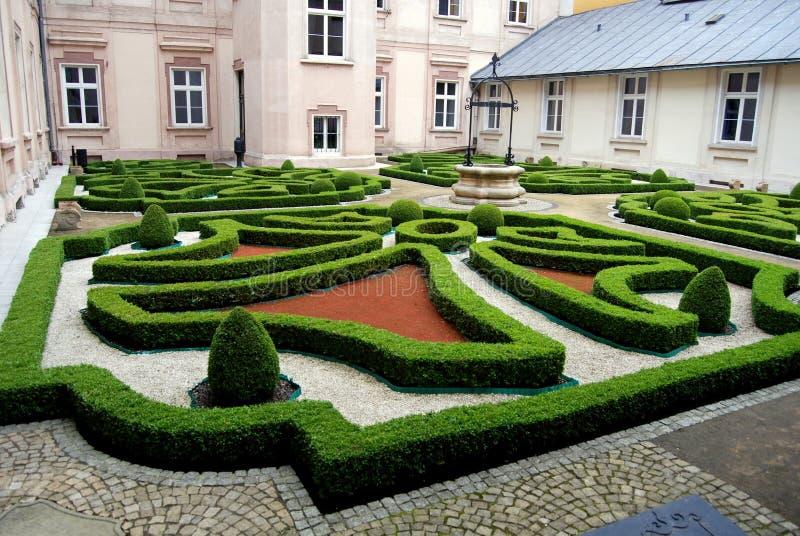 Wroclaw, Pologne : Jardin de noeud de Zwiedzunic image libre de droits
