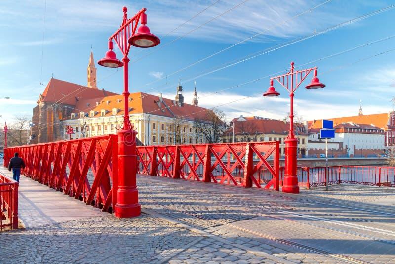 wroclaw Sandy Bridge fotografie stock libere da diritti