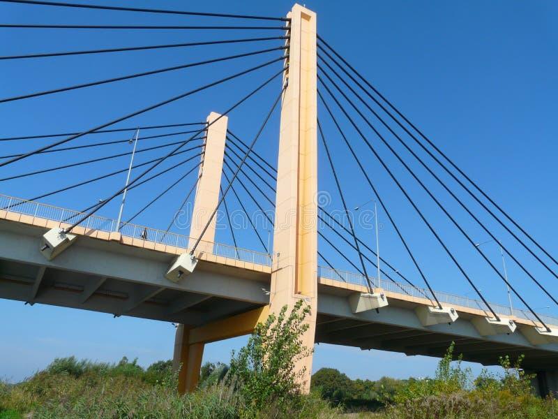 WROCLAW, SILÉSIE, POLOGNE - un beau pont de Milenijny à Wroclaw photographie stock