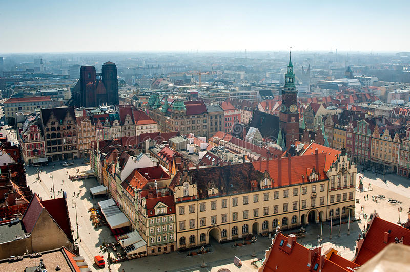 Wroclaw town hall stock photo