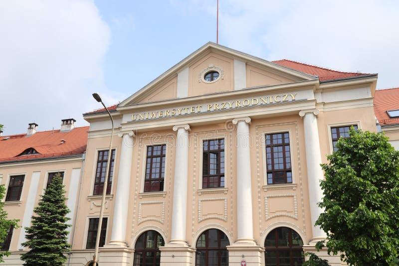 Wroclaw Uniwersytet Przyrodniczy stock image
