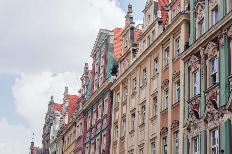 Wroclawarchitectuur, Polen royalty-vrije stock foto's