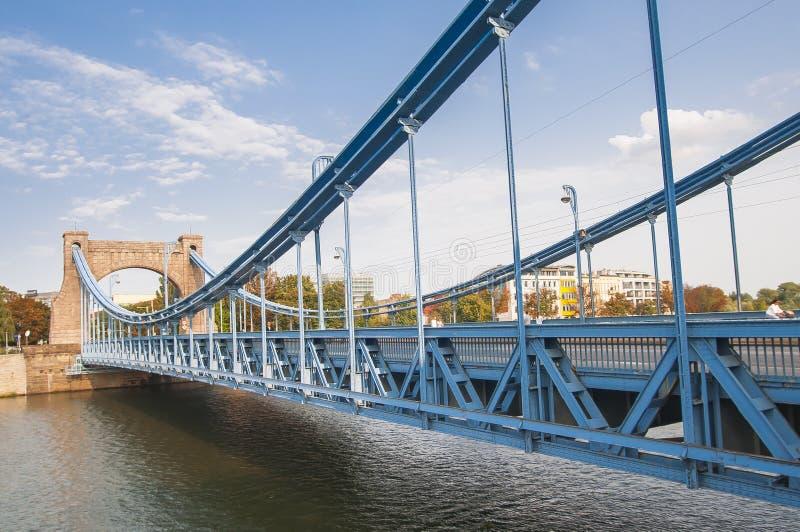 Wrolcaw, Polonia Ponte di Grunwald la maggior parte del grunwaldzki immagini stock