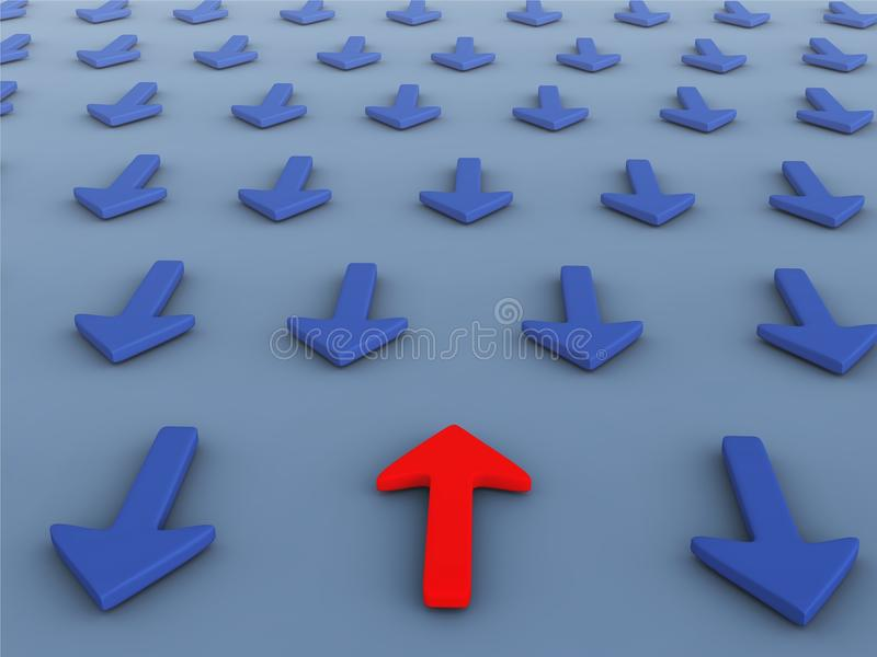 Download Wrong Direction Opposite Ways Stock Illustration - Illustration of direction, approach: 24560103