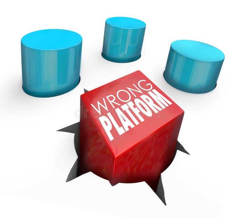 Download Wrong Platform Words Square Peg Wrong Home Stock Illustration - Illustration of misfit, group: 45967767