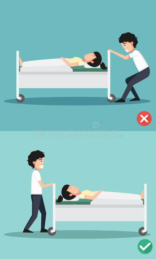 Wrong and right ways stock illustration