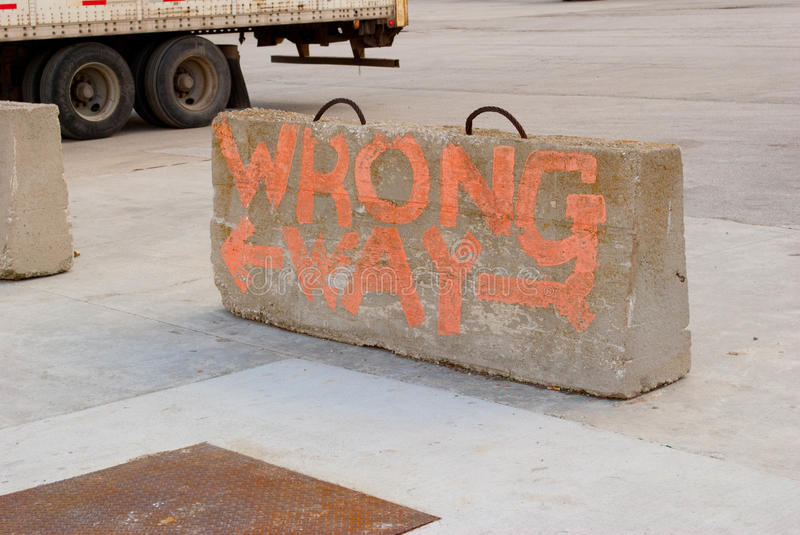 Download Wrong Way stock photo. Image of cement, semi, hand, paint - 23433514