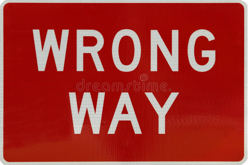 Download Wrong way stock photo. Image of isolated, warning, road - 6499628