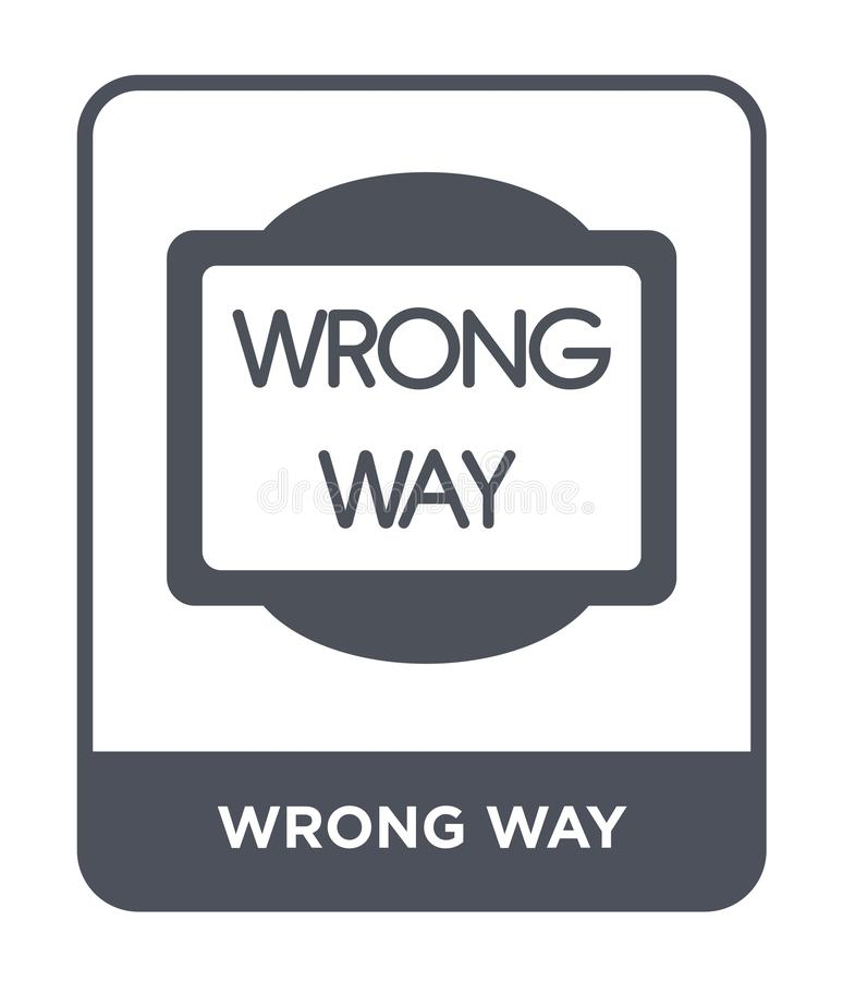 wrong way icon in trendy design style. wrong way icon isolated on white background. wrong way vector icon simple and modern flat royalty free illustration