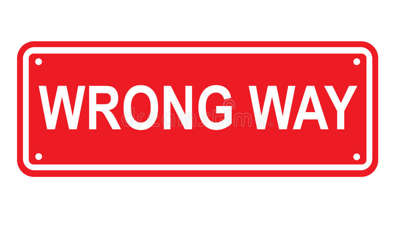 Download Wrong Way Or No Entry Sign Or Symbol Stock Vector - Image: 13290348