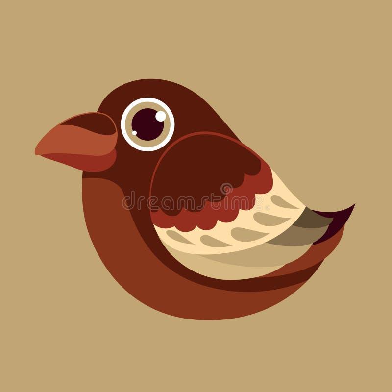 Wroni śliczny ptasi abstrakcjonistyczny prehistoryczny kolor ilustracja wektor