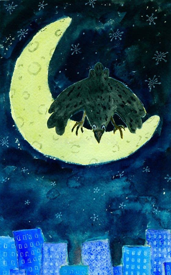 wronia księżyc royalty ilustracja