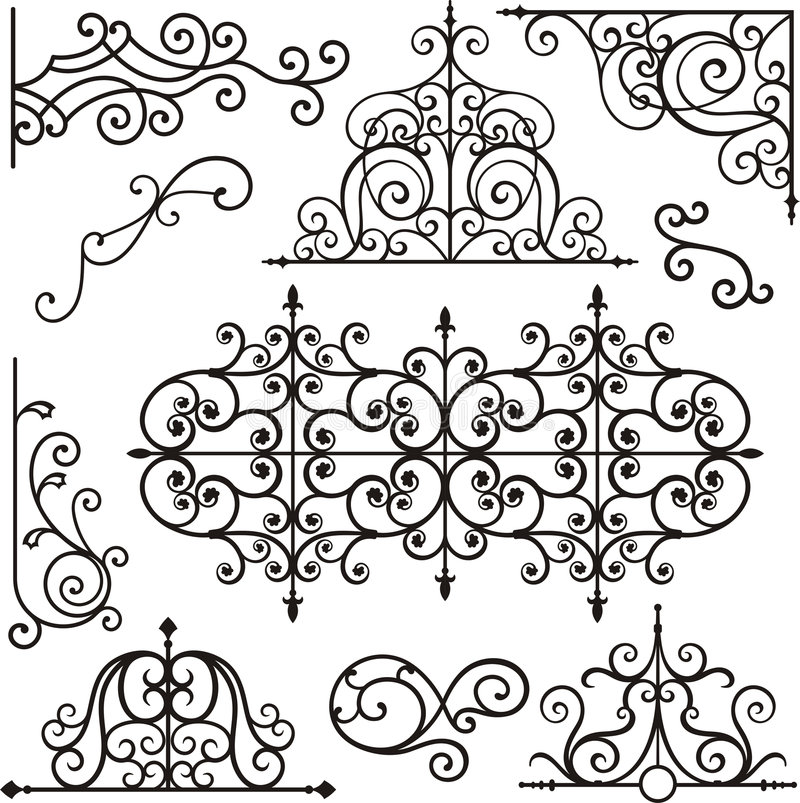 Free Wrough Iron Ornaments Royalty Free Stock Photography - 3739407